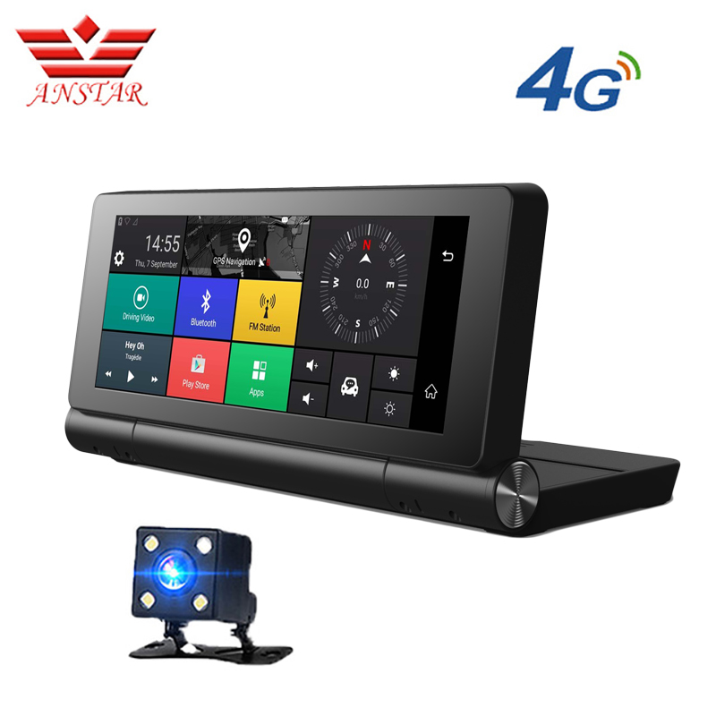 ANSTAR 4G Car DVR GPS Navigator Camera 6.84Android 5.0 Bluetooth HD1080P ADAS Video Recorder Camera Registrar Dash Cam Russian image