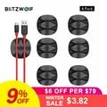 BlitzWolf 6 unids/lote Cable Keeper Cable organizador personalizado Cable auriculares Cable Clip de escritorio sostenedor Cables organización