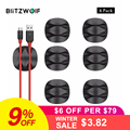 BlitzWolf 6Pcs/lot Cable Winder Cable Organizer Earphone Clip Cord Management Desktop Cables Holder Wires Organization
