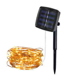 5 M 50 Lights Solar LED Copper Wire String Light Home Outdoor Solar Powered Copper