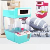 Grabber Toy Children Alarm Clock Home Decor 1 Pcs Game Crane Mini Claw Machine Creative Cartoon Electronic Desk Table Watch