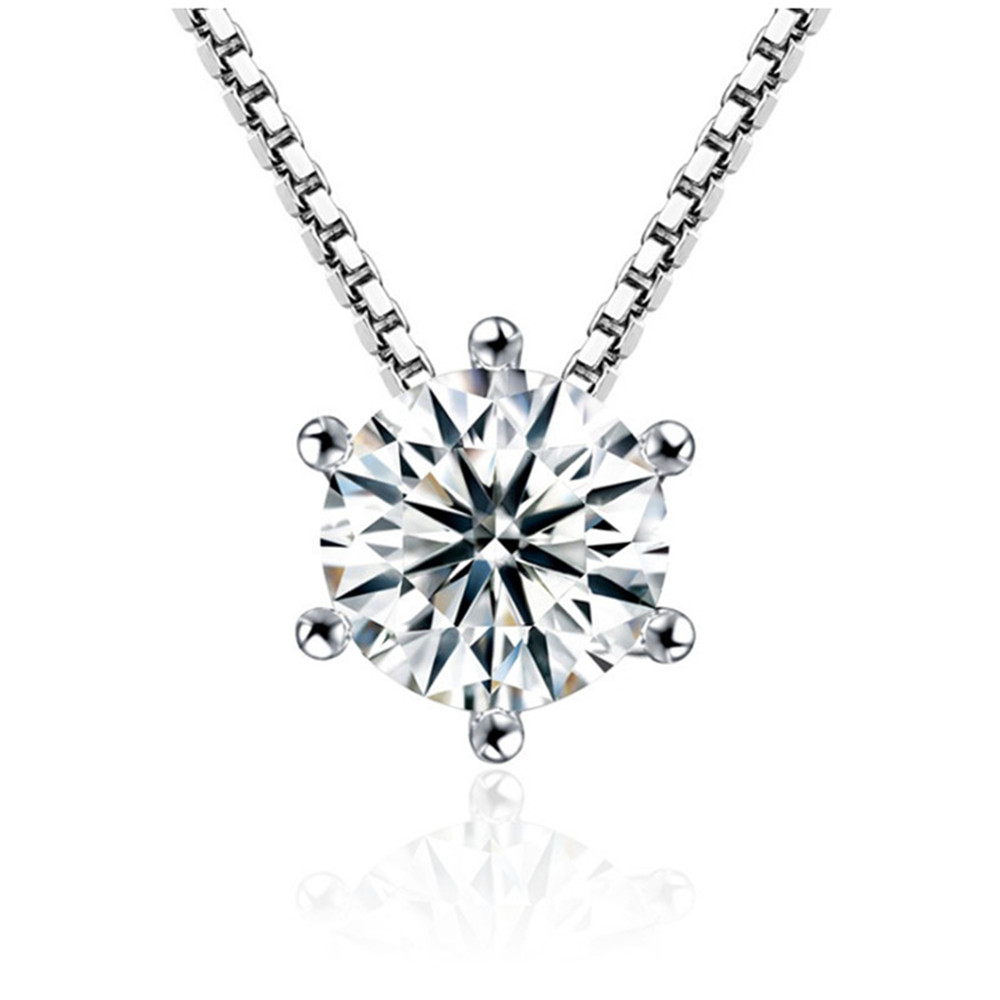 NEHZY 925 sterling silver new woman Fashion brand female necklace pendant female sweet short clavicle chain pendant crystal 45CM