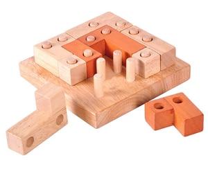 Image 2 - الكلاسيكية الذكاء لغز العقل دعابة الدماغ 2D ثلاثية الأبعاد الاثاث الخشبية لعبة تعليمية للكبار الأطفال