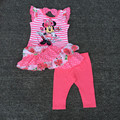 retail  1-2yrs Baby Girl's Minnie layered Dress and Legging Set minnie mouse dress two pieces sets