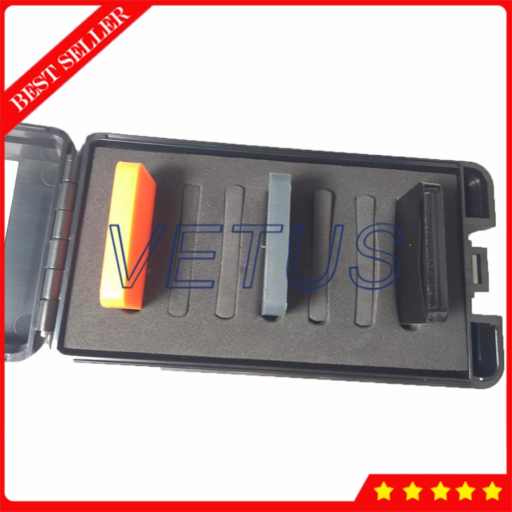 D Type Hardness Test Block for hard rubber and plastics measurement Shore D Durometer Three Color Block Test Block Kit rtd2136s rtd2136r rtd2136n