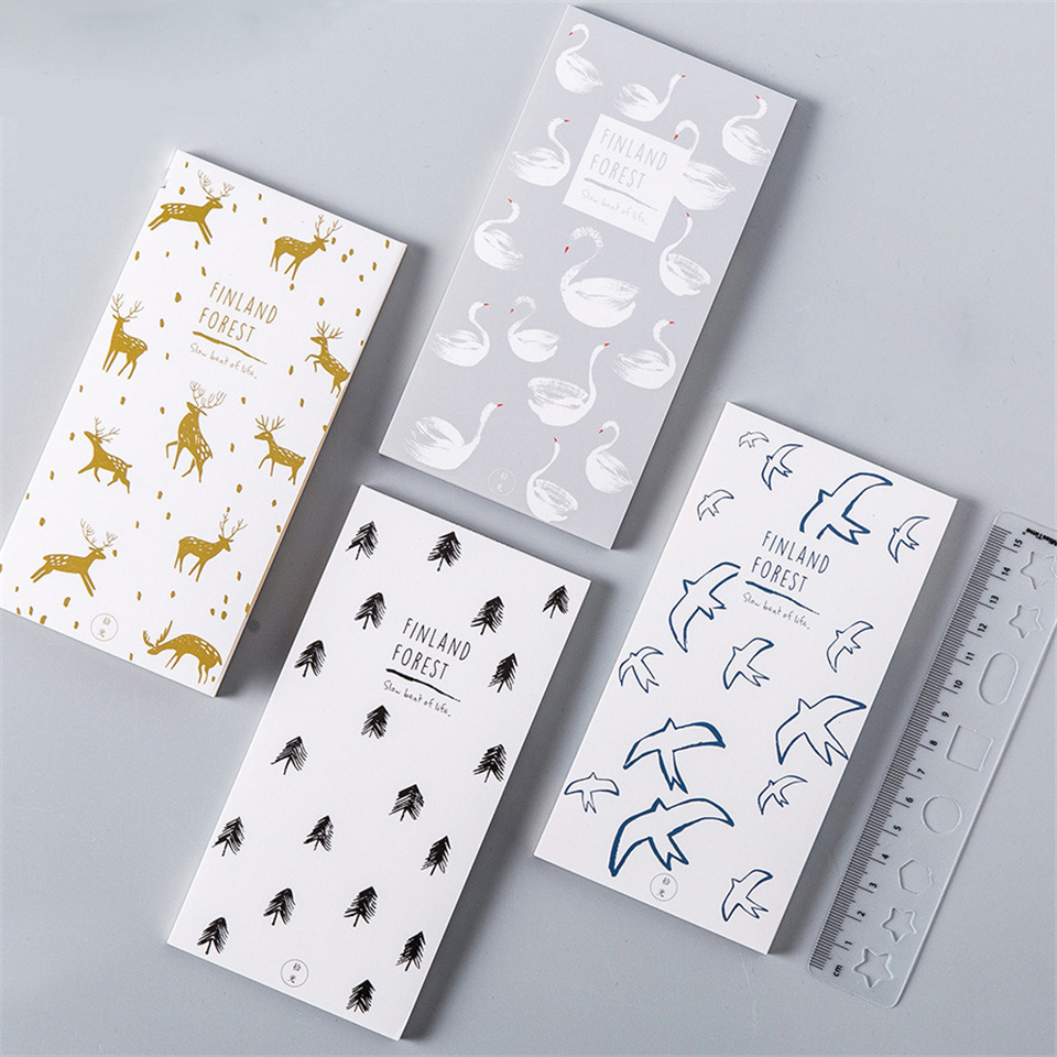 4Pcs/lot Vintage Memo Pad Paper Kawaii Cute Giraffe Animal Sticky Notes Planner Memo Book Post it For Offce School Supplies
