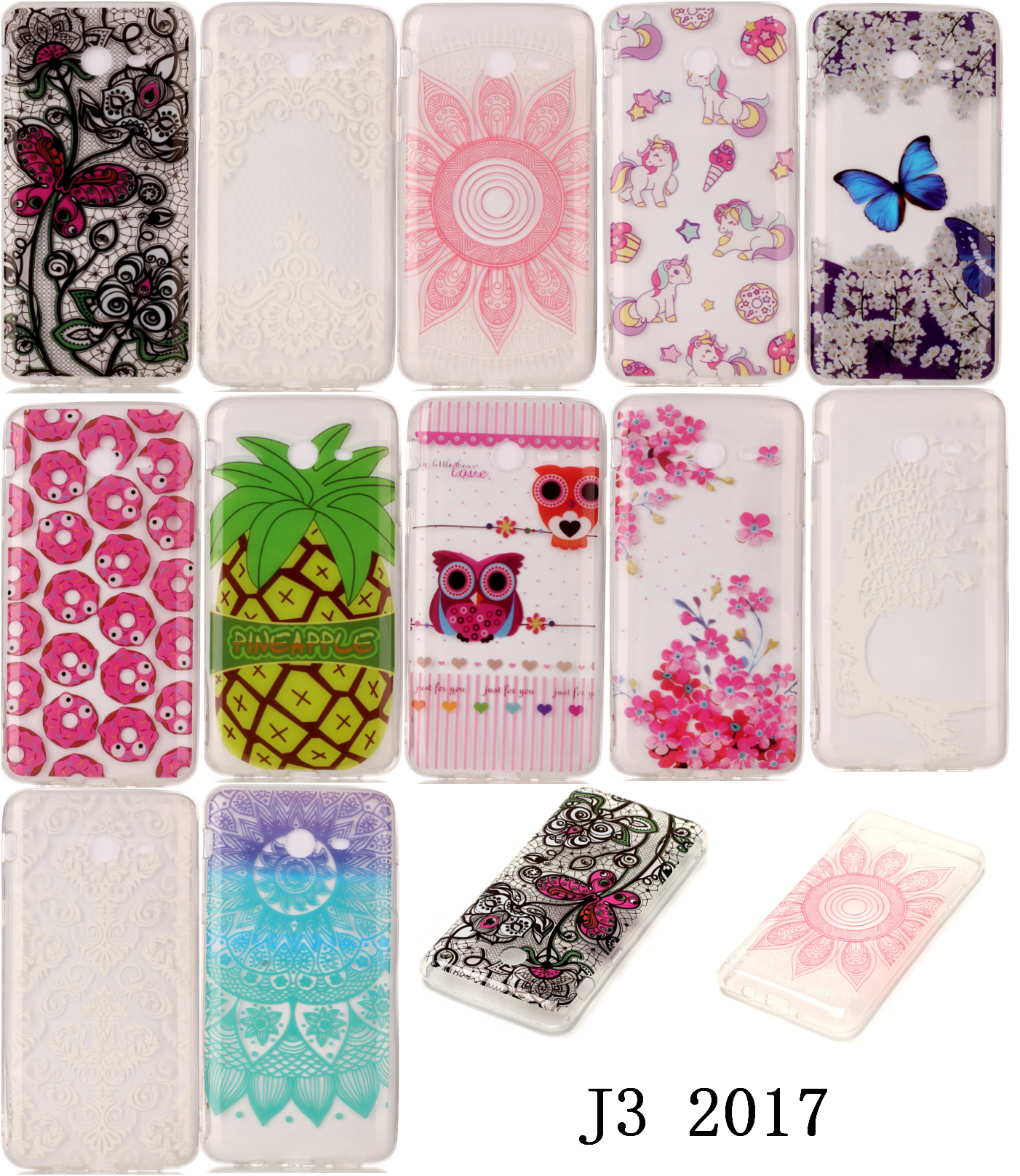 New Pretty Cheap Soft Silicone TPU Thin Ultra Carcasa Etui Fundas Case Phone Mobile For Samsug Samsu Sansung Galaxy J3 2017