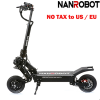 NANROBOT LS5 10 2000 Вт Мощный 52V25AH складной 45 Миль скорость 40 MPH Съемное Сиденье 2 колеса kick e Электрический скутер для взрослых