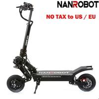 NANROBOT LS5 10 2000W Powerful 52V25AH Foldable 45 Miles Speed 40 MPH Detachable Seat 2 Wheel kick e Adult Electric Scooter