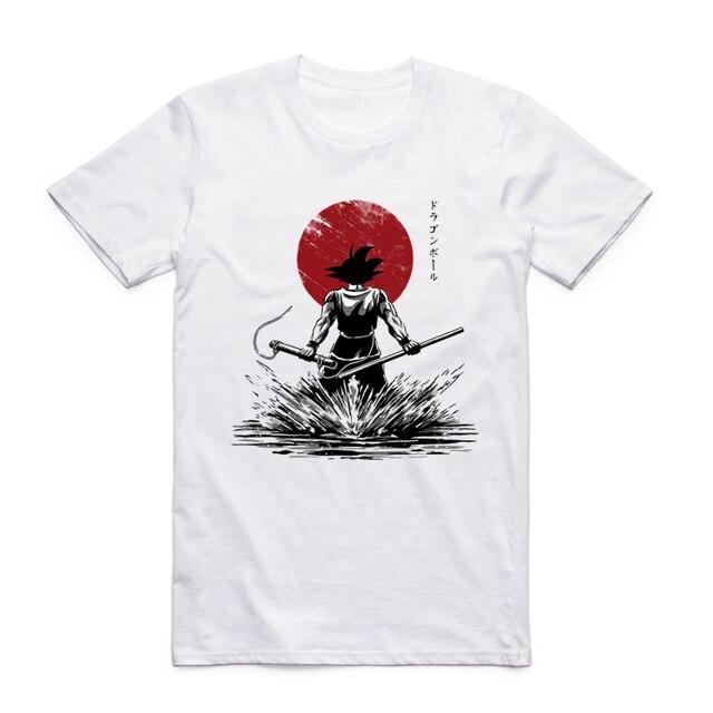 2017 Men Women S-XXXL Dragon Ball Z Goku T-shirt Short sleeve O-Neck Tshirt Summer Super Saiyan Japanese Anime Unisex T shirt