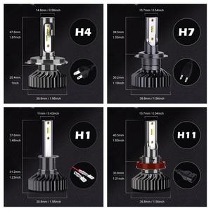 Image 5 - 2 шт. H4 H7 светодиодный фары Лампы Canbus супер яркий 16000 мл зэс чипы H1 H3 H11 H27 880 HB3 9005 9006 9007 6500K Автомобильная противотуманная фара