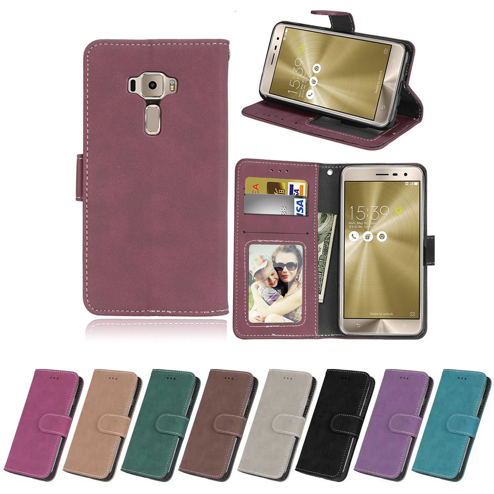 Flip Case for Asus ZenFone 3 ZE520KL Z017D Z017DA Z017DB ZE520 <font><b>520</b></font> <font><b>KL</b></font> Case Phone Leather for ASUS_Z017D ZenFone3 <font><b>ZE</b></font> 520KL Cover image