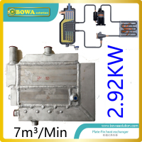 7m3min29kw-cooling-capacity-special-heat-exchanger-with-water-drain-pipe-for-air-dryer-chamber-and-freezer-dryer-machine