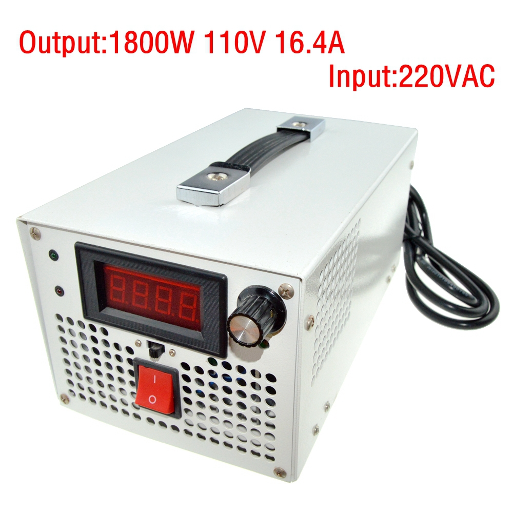 LED Driver AC Input 220V to DC 1800W 0~110V 16.4A adjustable output Switching power supply Transformer for LED Strip light 1200w 12v 100a adjustable 220v input single output switching power supply for led strip light ac to dc