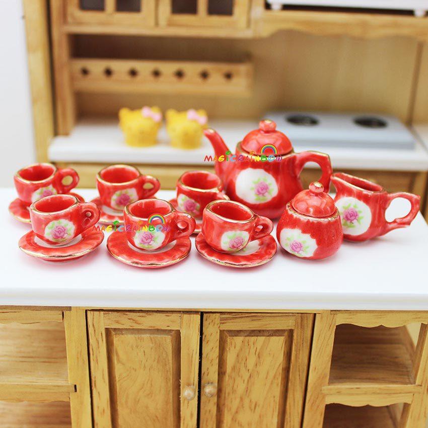 Kitchen Kettle Village Coupons: Porcelain Teapot Coffee Cups Tea Set Tableware Saucer Pot