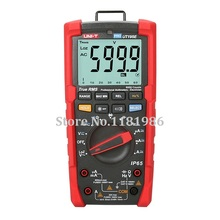 UNI-T UT195E Industrial Waterproof multimeter IP65 Flashlight, True RMS Digital Multimeter LoZ Voltage Measurement victor vc890c digital multimeter true multimeter capacitor temperature measurement multimeter digital professional