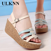ULKNN Women S Wedge Sandal Platform High Heel Sandals Woman Sandals For Ladies Womans Summer Shoes