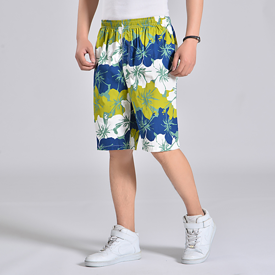 Floral Print Shorts Men Elastic Waist Beach Board Plus Size Man Swimwear Short Masculino Praia  Activewear Mens Shorts Sea 6d020 2