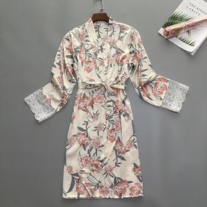 Image 2 - קיץ נשים שינה חלוק פיג מה הלבשת גברת בית ללבוש כתונת הלילה סקסי קימונו אמבט שמלת Sleepshirts M XL