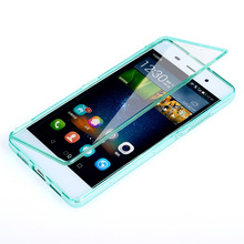 Huawei P8 Lite Case Silicone Flip Full Protector Cover TPU Silicon Mobile Phone Bag Cases Huawei P8 Lite Accessory Capa Coque