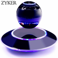 Zyker Magnetic Levitating Floating Speaker Stereo Rotating 360 Degree Led Light Christmas Gift Smart Wireless Altavoz