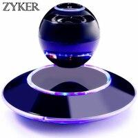 Zyker Magnetic Levitating Floating Speaker Stereo Rotating 360 Degree Led Light Christmas Gift Smart Wireless Altavoz