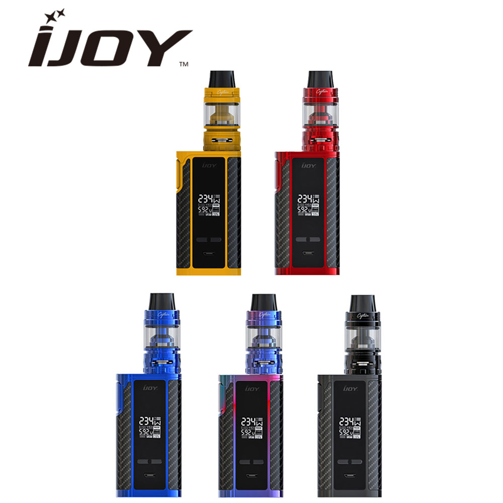 Originale 6000 mAh IJOY Capitano PD270 234 W Kit con Captain S Subohm Serbatoio 4 ml Capacità e 0.2ohm/0.3ohm Bobina 234 W Power E-cig Mod