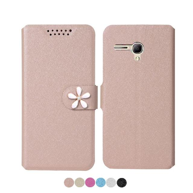buy popular d8efe fd63f US $2.8 29% OFF|Leather Cover for Alcatel One Touch Fierce XL 5.5