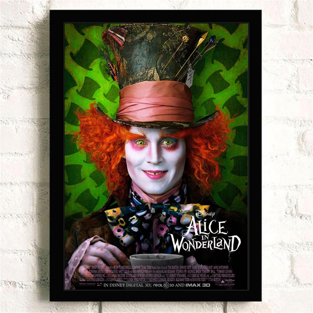 wall art craft canvas pianting poster for movie quadro Alice in Wonderland wall painting for bed room kid room bar pub ...