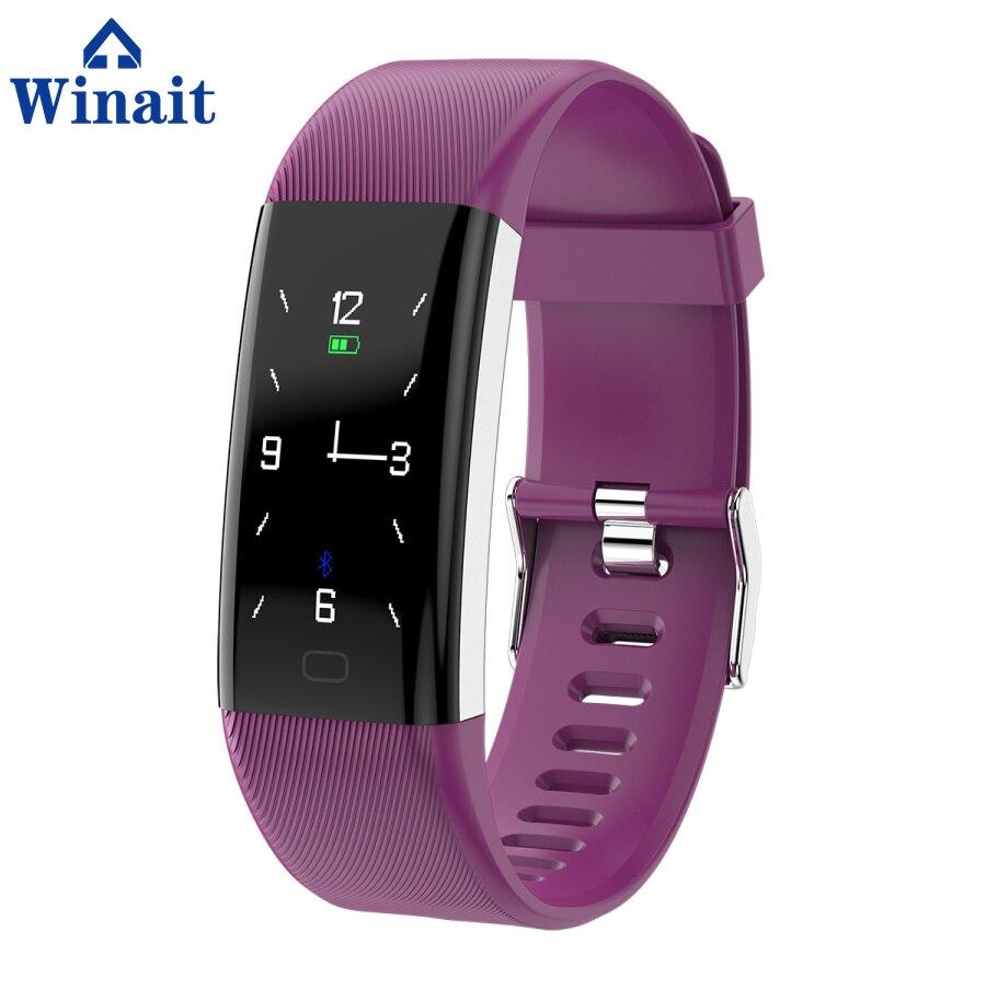 Winait F07 ip67 bracelet de sport étanche, affichage couleur/fréquence cardiaque/pression artérielle/oxygène sang numérique intelligent poignet bande fitness