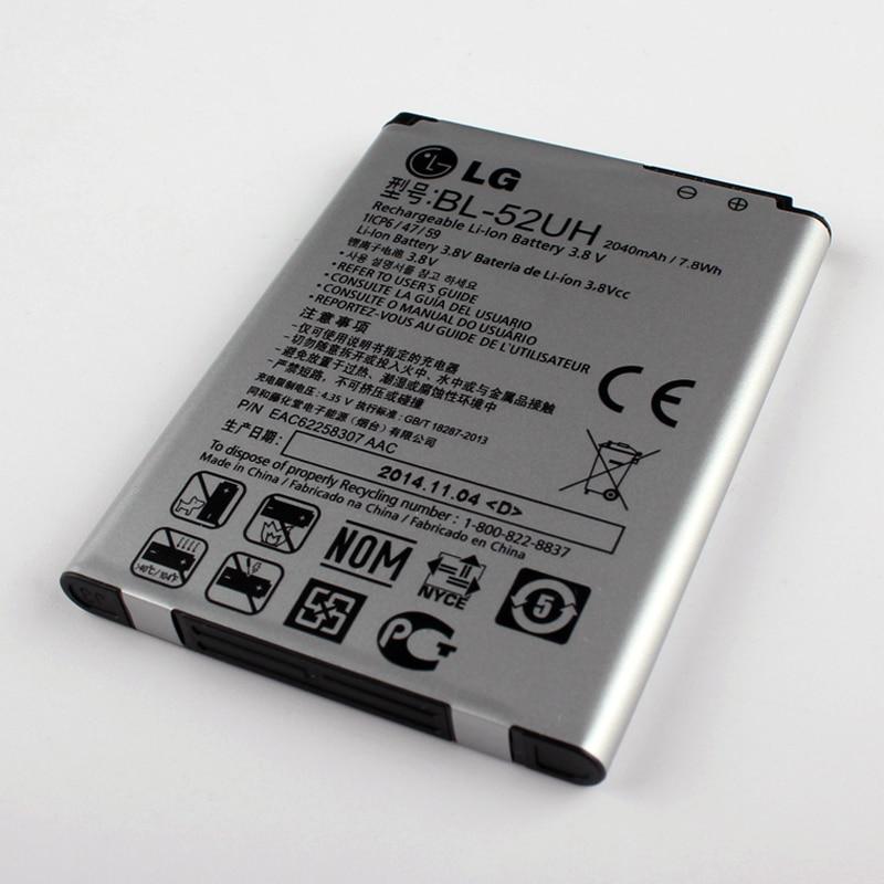 imágenes para Nuevo Original LG Batería para LG D280N BL-52UH D320 D285 D325 DUAL SIM H443 Escape 2 VS8763 L65 L70 MS323 2040 mAh