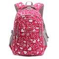 Chica de moda Bolsa de La Escuela Impermeable ligero Mochila Niñas bolsas mochila impresión niño