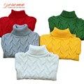 Suéter Niños Suéter Niña de Invierno de Los Niños de Primavera de punto de Cuello Alto Suéter Caliente Suéter Para Niños Niño Ropa de Navidad