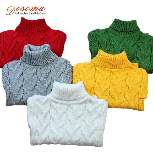 cda4d6883822 Sweater Kids Baby Girl Sweater Children Winter Spring knitted Turtleneck  Pullover Warm Christmas Sweater For Boy