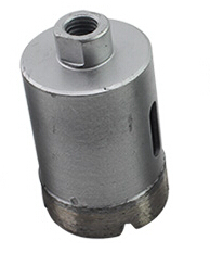 of 1pc diamond marble hole saw core bit 35mm M10 inner threading for marble/concrete drilling