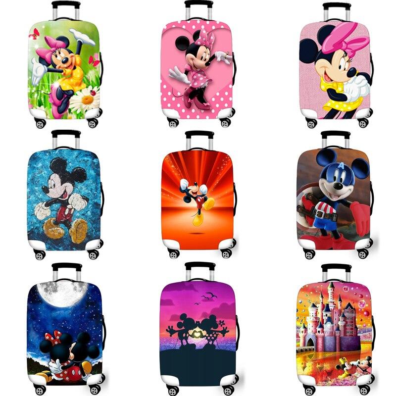 Эластичный Защитный чехол для багажа, защитный чехол для чемодана, чехлы на колесиках, Xl, аксессуары для путешествий, 3D Минни Микки