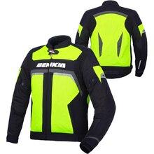 BENKIA Весна Лето Гонки На Мотоциклах Куртка Светоотражающий Жилет Traval Езда Пальто Куртки Блузон Мото