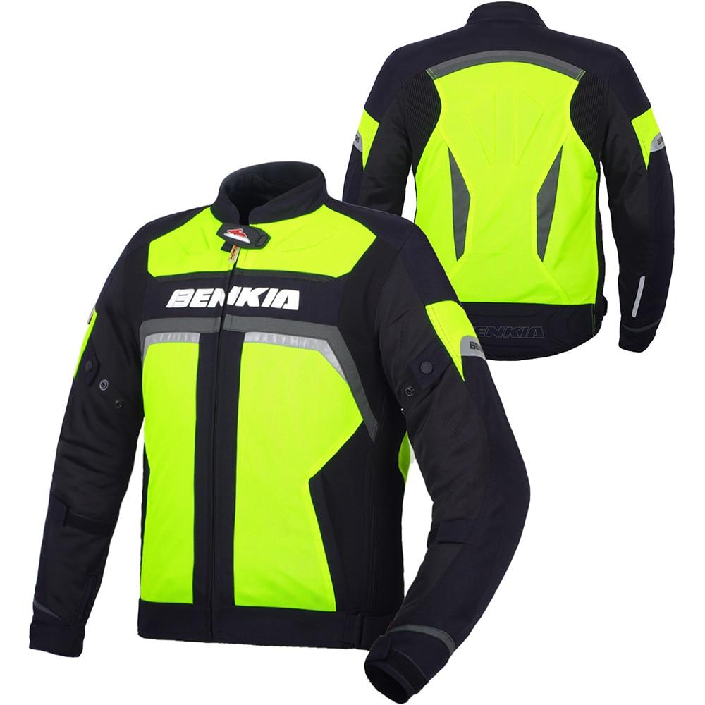 BENKIA Spring Summer Motorcycle Racing font b Jacket b font Reflective Motorcycle font b Jacket b