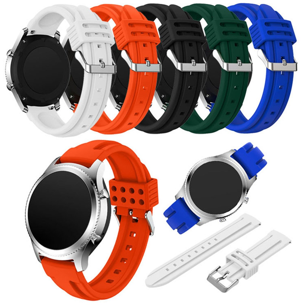 22MM Watchband for/Samsung Gear S3 Soft Silicone Replacement Bracelet Rubber Bands For/Samsung Gear S3 Smart Sport Watch