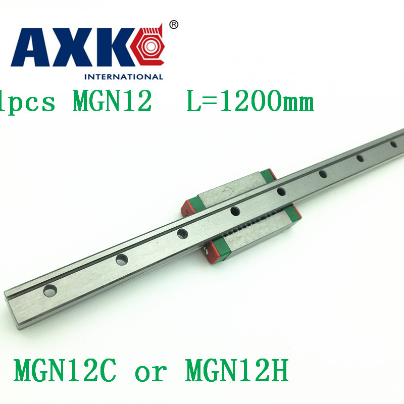12mm Linear Guide Mgn12 L= 1200mm Linear Rail Way + Mgn12c Or Mgn12h Long Linear Carriage For Cnc X Y Z Axis 12mm linear guide mgn12 l 250mm linear rail way mgn12h long linear carriage for cnc x y z axis