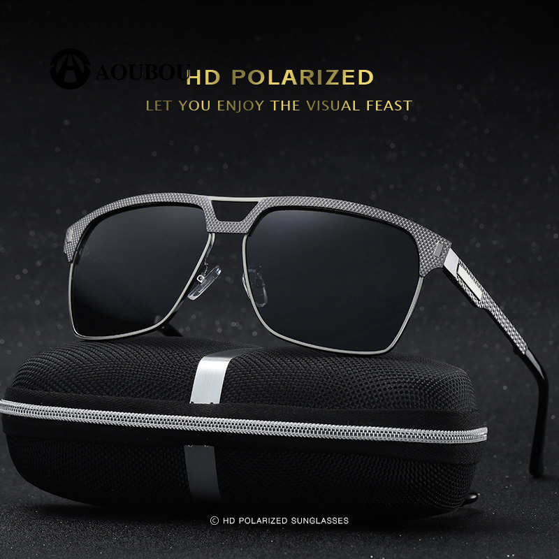 Genteel Classic Models Men Sunglasses Polarized Light Fishing Driving Slingshot Leg Blue Plating Inside Okulary Przeciwsloneczne Complete Range Of Articles Men's Glasses
