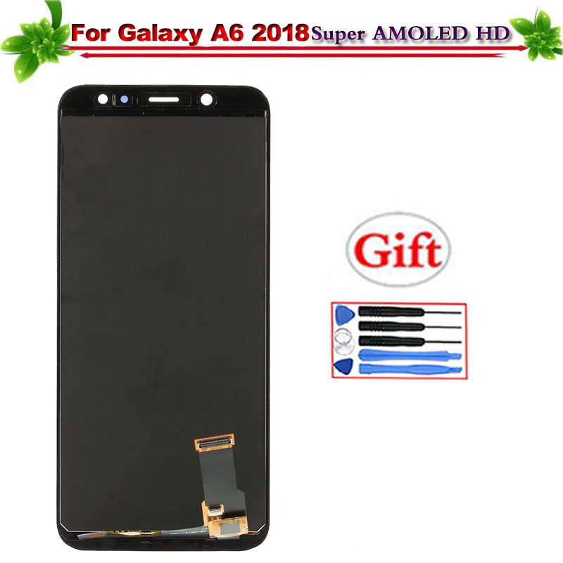 Super Amoled for Samsung Galaxy A6 2018 A600 A600F A600FN LCD Display Touch Screen Digitizer Assembly Replacement Can AdjustSuper Amoled for Samsung Galaxy A6 2018 A600 A600F A600FN LCD Display Touch Screen Digitizer Assembly Replacement Can Adjust