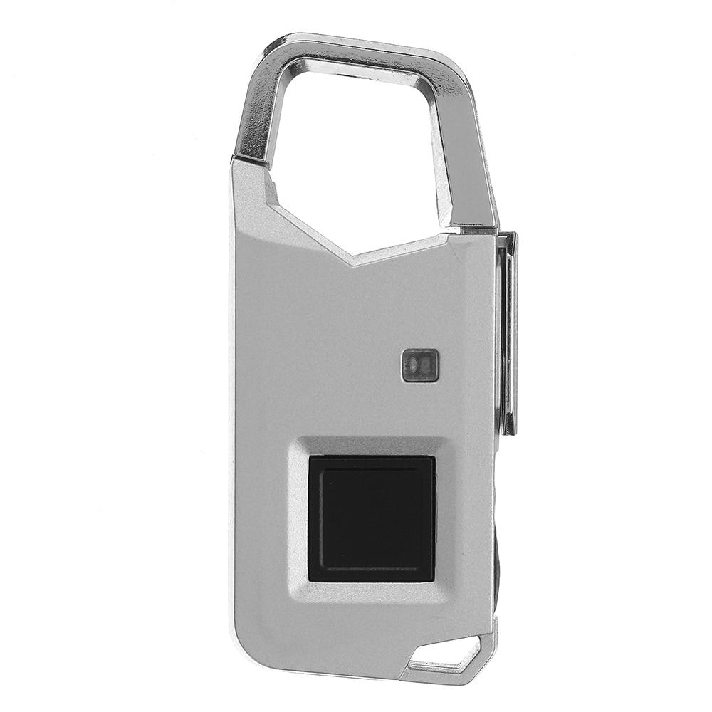 Fingerprint Speedy Identification Security Padlock Keyless Smart Anti-theft Suitcase Bag Drawer Lock 63 X 28 X 10mmFingerprint Speedy Identification Security Padlock Keyless Smart Anti-theft Suitcase Bag Drawer Lock 63 X 28 X 10mm