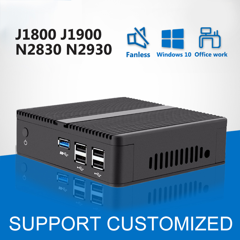 Fanless Celeron J1900 J1800 Mini PC Windows 10 Linux Mini Computer Celeron N2830 DDR3 RAM Computer PC Barebone WIFI HDMI VGA abr lighting закапываемый уличный ландшафтный светильник с защитным козырьком abr lighting monaco ul 03