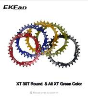 EKFan 104BCD XT Multicolor Narrow Wide Oval Round 30T 32T 34T 36T MTB Bike Chainwheel Cycling Chainring Circle Crankset Plate(China)