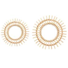 Rattan Innovative Macrame Fringe Art Decoration Round Makeup Mirror Smooth Interior Dressing Bathroom Hanging Wall