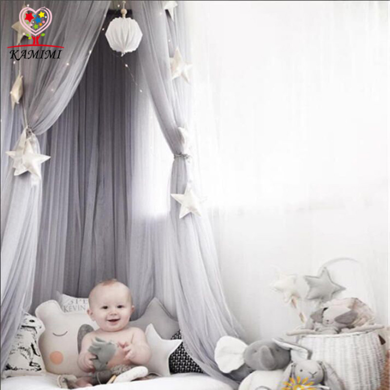 Kamimi canopy children tent Baby Mosquit Net Palace Children bedroom Dome Bed Netting curtain Cotton Kids fille Bedroom Tent