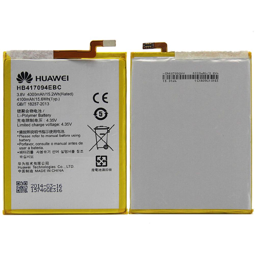 100% Original Backup For Mate7 MT7-CL00 MT7-TL10 HB417094EBC 4100mAh Battery For Mate 7 Smart Mobile Phone + Free Shipping