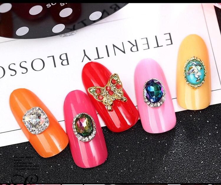2018 Beautiful 10pcs Crystal Colourful Volcano Nail Rhinestone Alloy