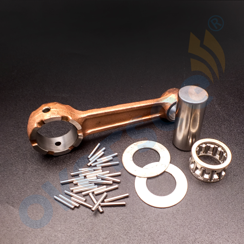 6E0-11650-00 Fit Yamaha Outboard Motor 4HP 5HP 6HP 8HP Connecting Rod Kit Same As 677-11650-01 3 5hp recoil starter assembly for hangkai huasheng anqidi 3 6hp 3 8hp marine outboard motor 4 stroke 4hp pull start boat parts